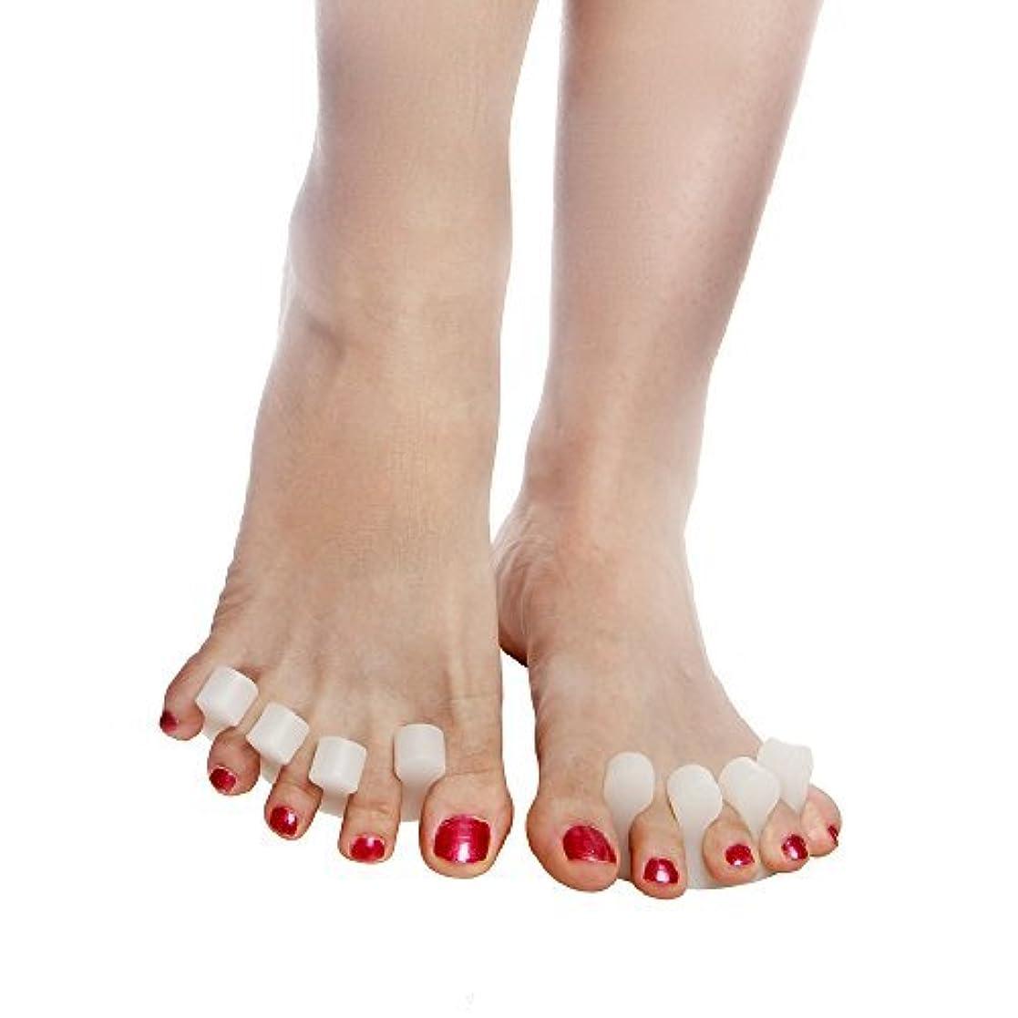 すき匹敵します測定Xiton 足指セパレーター,足指広げる 指間ジェルサポーター ネイル ペディキュア用 外反母趾パッド 内反小趾 手指足指全開両用 分離シリコンパッド ヨガ マニキュア用 4個セット