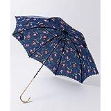 (パラダイス ピクニック)Paradise Picnic 【WEB限定】チューリップ柄カットワーク長雨傘 293009814 F ネイビー