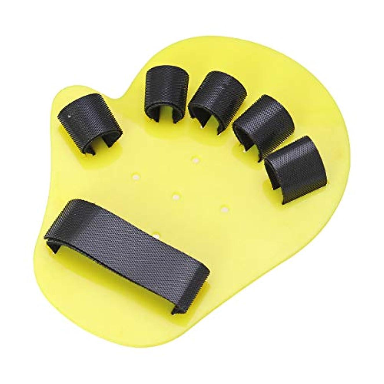 トランスペアレント緑無効SUPVOX 指矯正装置子供の指の訓練板指の添え木指先片麻痺1-5年