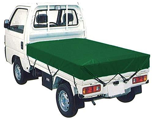 トラックシート グリーン 1.9m×2.1m 軽トラックシート エステル帆布製