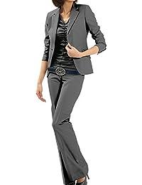 パンツスーツ リクルートスーツ レディススーツ グレー 就活 5号 上下別サイズ対応スーツ