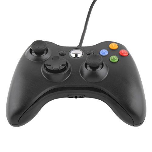 Luckyks コントローラー xbox ゲームパッド USB ゲームジョイパッド Xbox 360/Microsoft Xbox/Win7 systemなど適用 (ブラック)