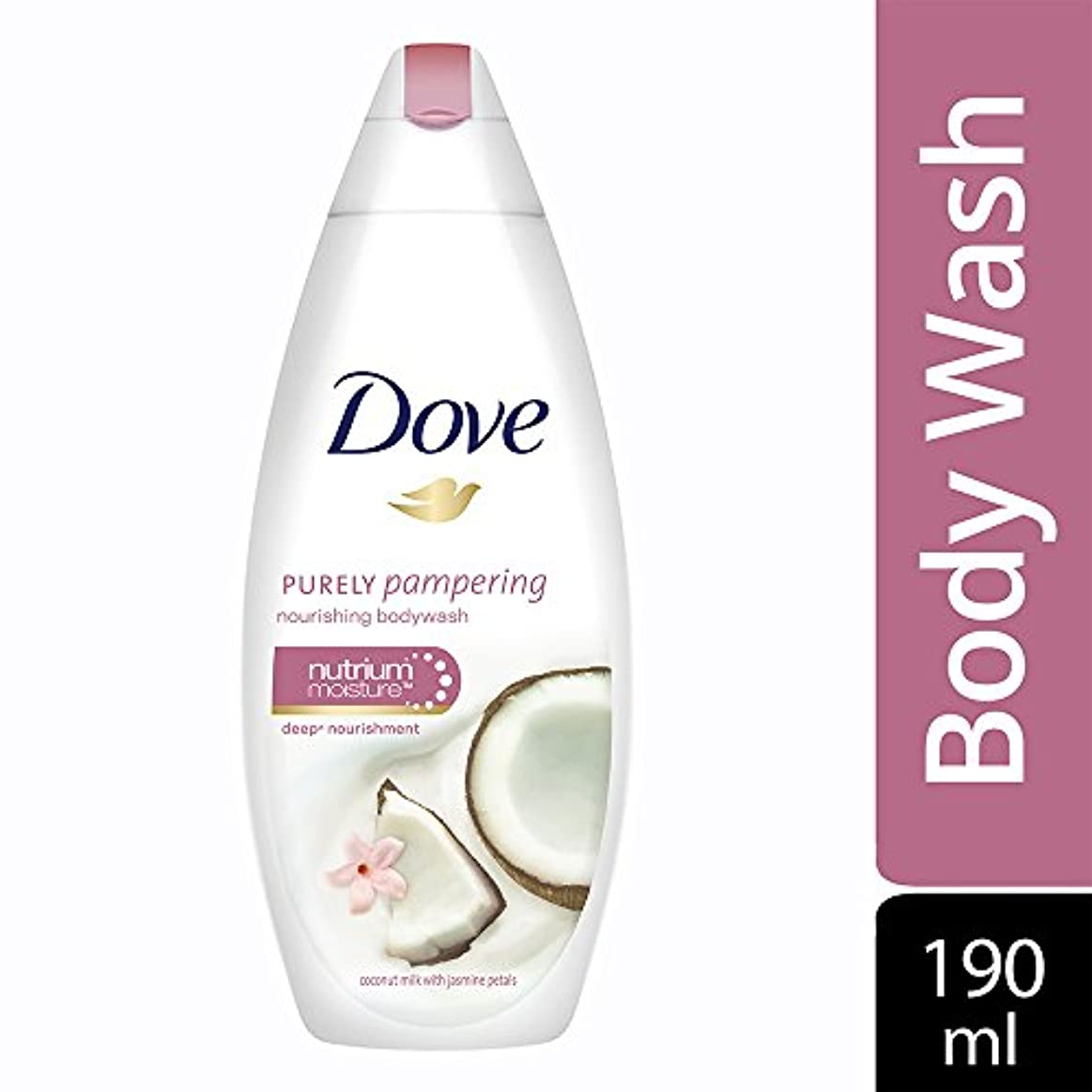 クラックポット強制的操るDove Purely Pampering Coconut Milk and Jas Petals Body Wash, 190ml
