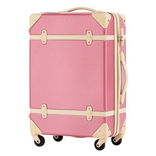 (トラベルハウス)TRAVELHOUSE トランク 超軽量スーツケース キャリーケース キャリーバッグ ファースナー 軽量 かわいい 4輪 一年修理保証 旅行かばん Suitcase T8011