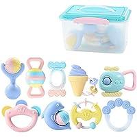 赤ちゃんのラトルとおもちゃのギフトセットハンドベルのラトル赤ちゃんの新生児のおしゃぶりおもちゃ、ラトルと歯の指輪新生児のための手のベルおもちゃ ( Color : C )