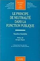 Principe de neutralite dans la fonction publique