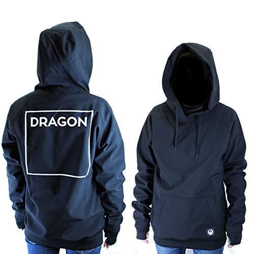 DRAGON スノーボード パーカー 耐水圧10000mm DRAGON ドラゴン 10K BONDING プルオーバー/ブラック 防水・...