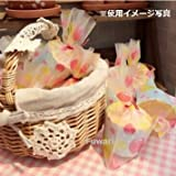 【Fuwari】バレンタイン かわいい 袋 小袋 お菓子 チョコレート クッキー キャンディー アクセサリー 小物  ラッピング  100枚 包装袋 小分け プレゼント 用 (パステルⒶ)
