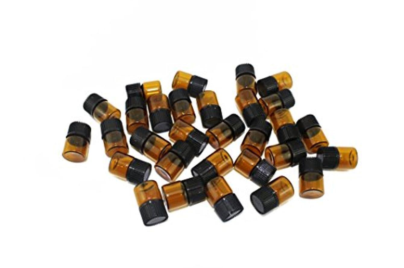 naissant アロマオイル 遮光瓶 30個セット エッセンシャルオイル 保存用 保存容器 茶色 ブラウン (1ml?30本セット)