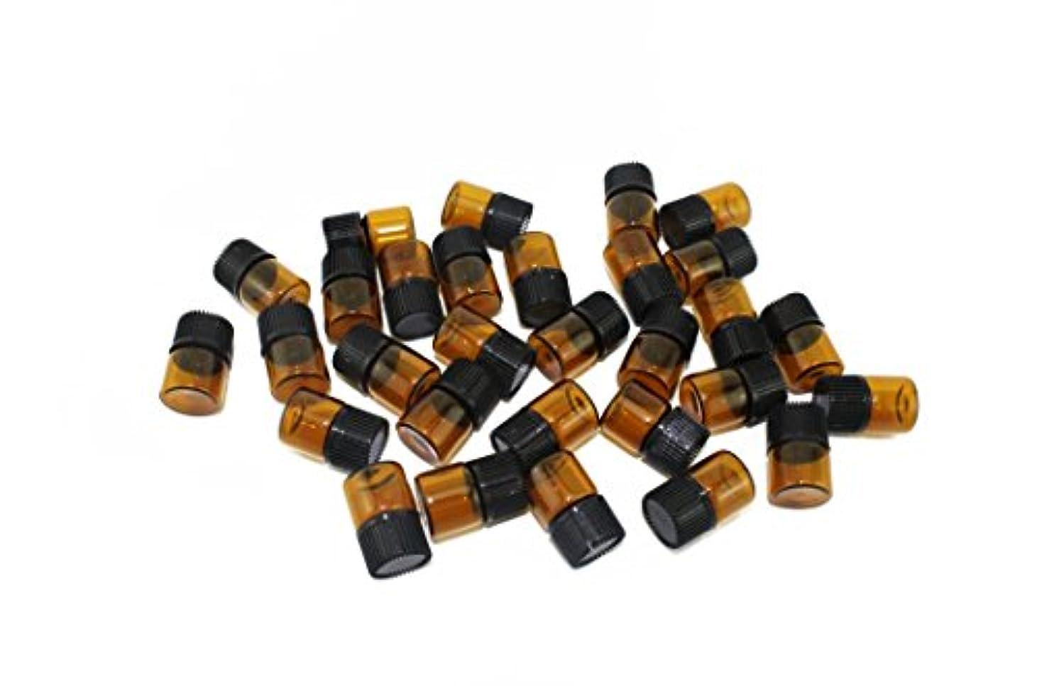 溶かす受け入れサーマルnaissant アロマオイル 遮光瓶 30個セット エッセンシャルオイル 保存用 保存容器 茶色 ブラウン (1ml?30本セット)