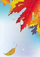 igsticker ポスター ウォールステッカー シール式ステッカー 飾り 297×420㎜ A3 写真 フォト 壁 インテリア おしゃれ 剥がせる wall sticker poster 001282 フラワー 紅葉 秋