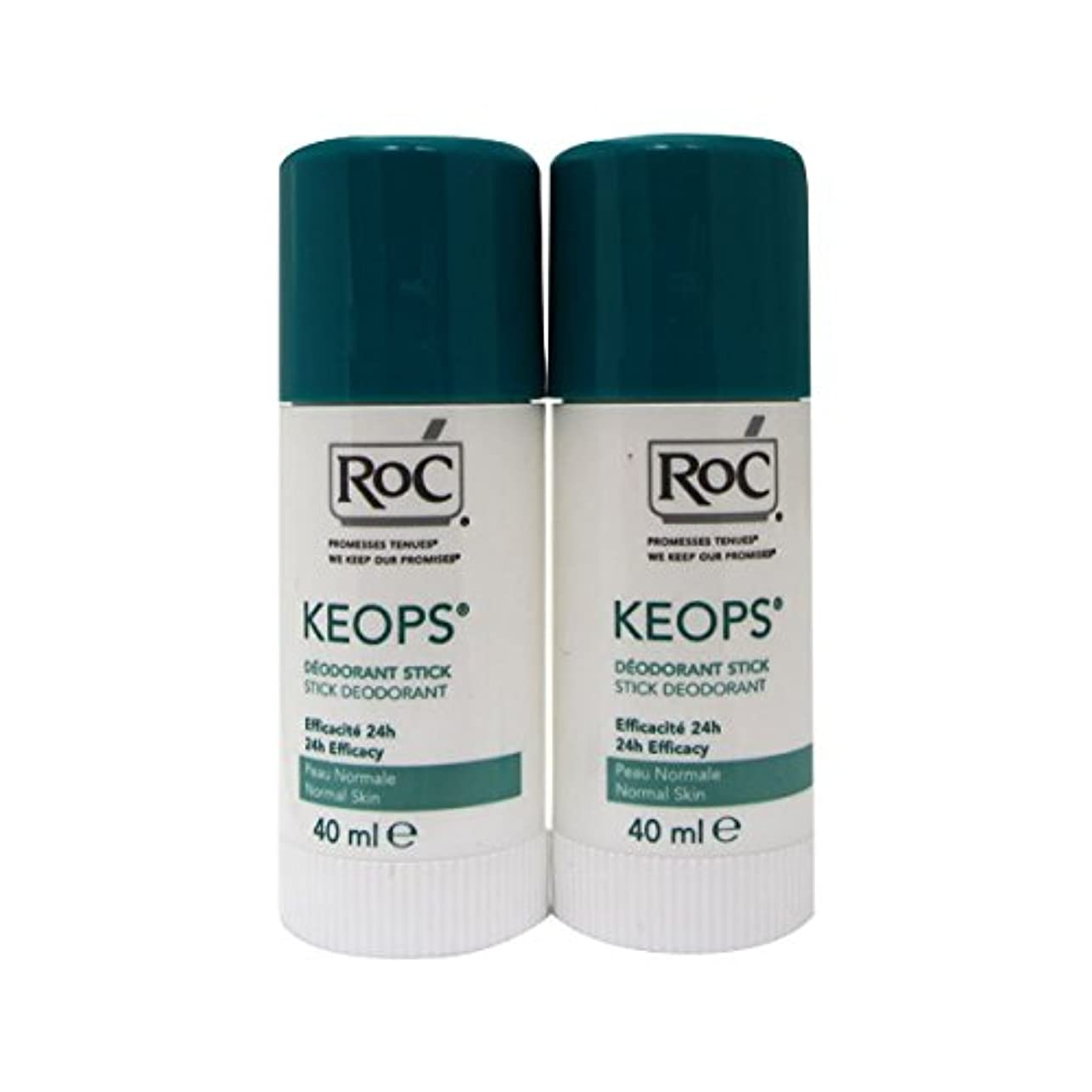Roc Keops Deodorant Stick Soft Sweating 2x40ml [並行輸入品]