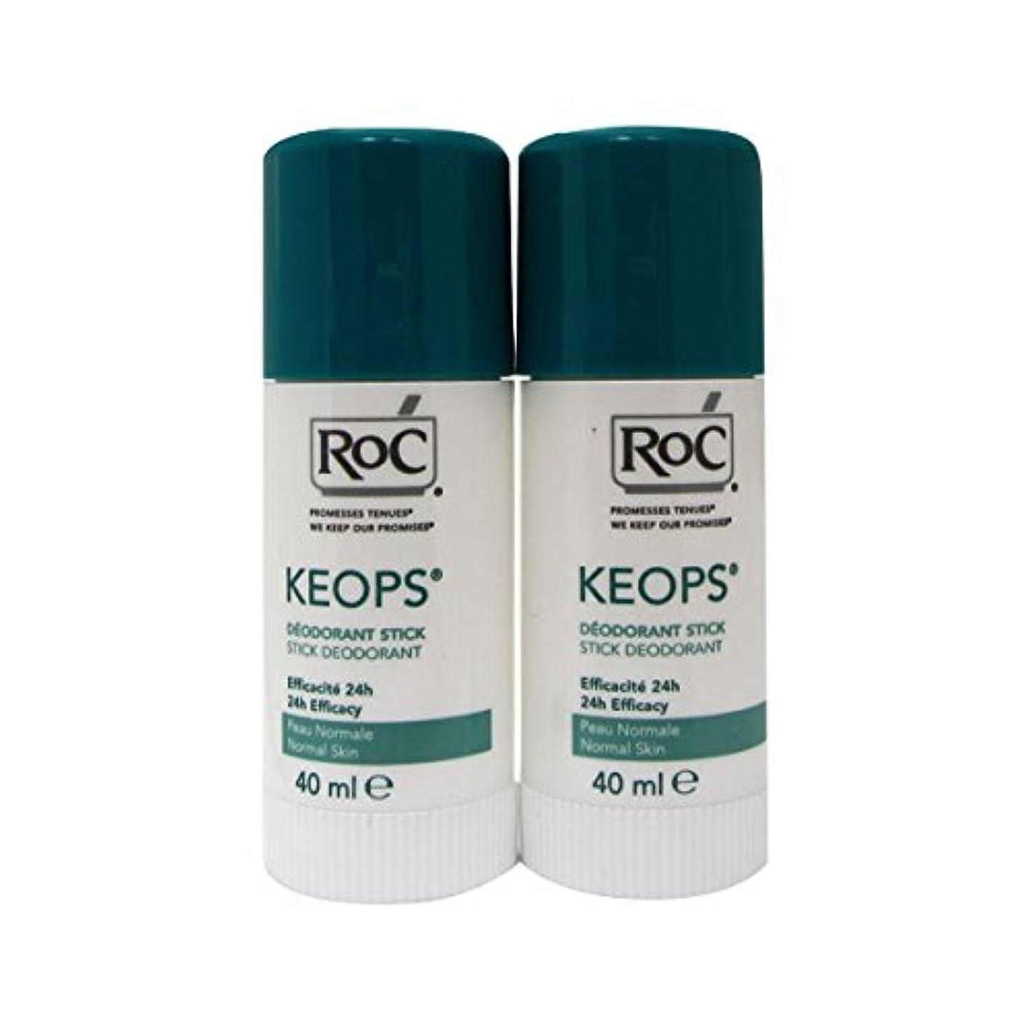 ロードされたパキスタン謝罪Roc Keops Deodorant Stick Soft Sweating 2x40ml [並行輸入品]