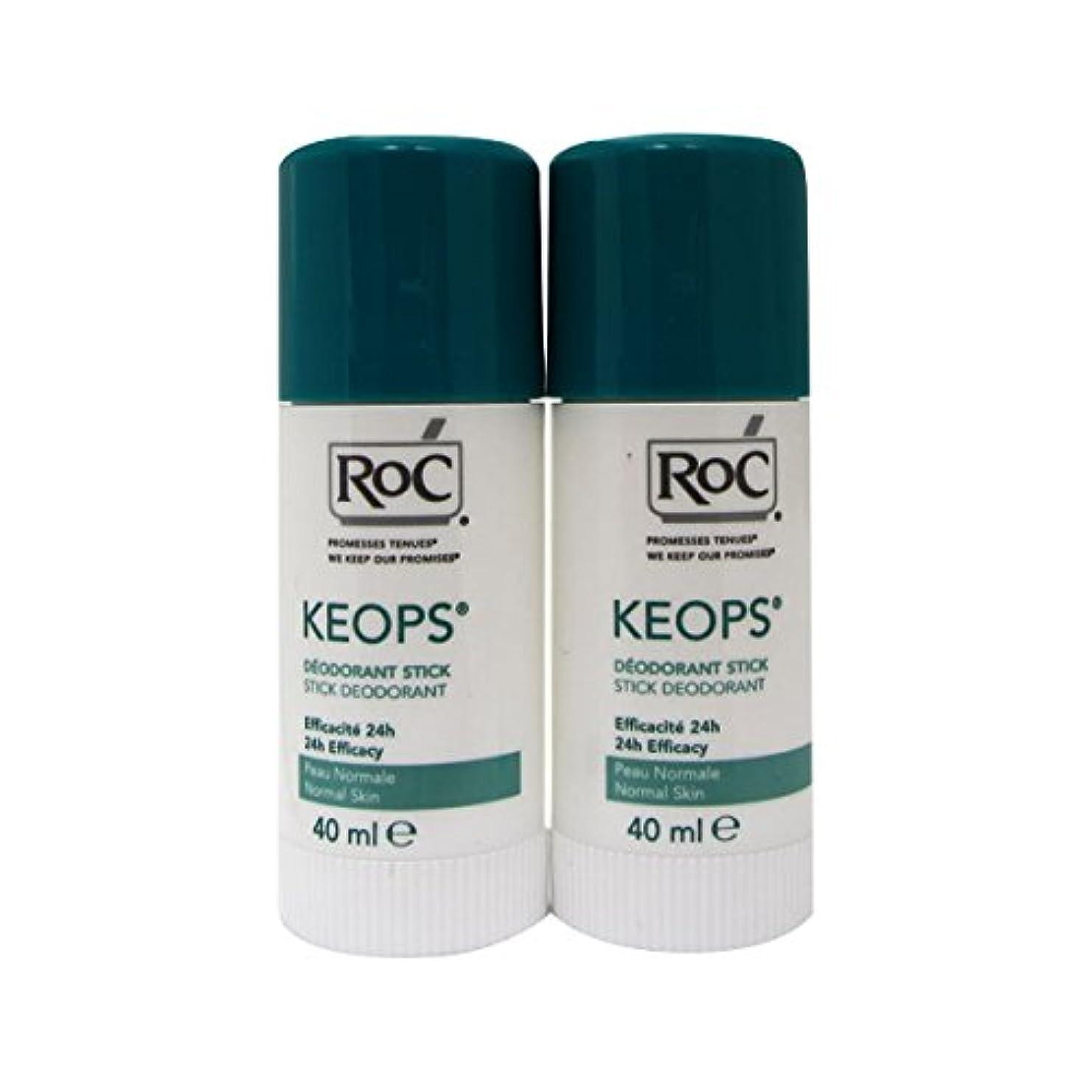 擁する仲間脇にRoc Keops Deodorant Stick Soft Sweating 2x40ml [並行輸入品]
