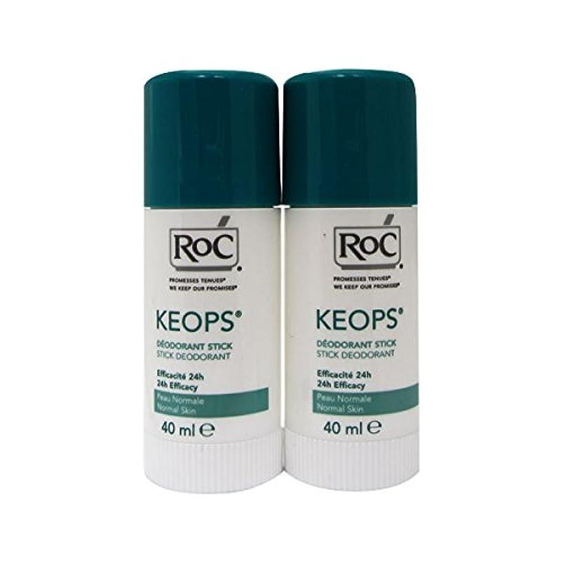 違反印刷するやがてRoc Keops Deodorant Stick Soft Sweating 2x40ml [並行輸入品]