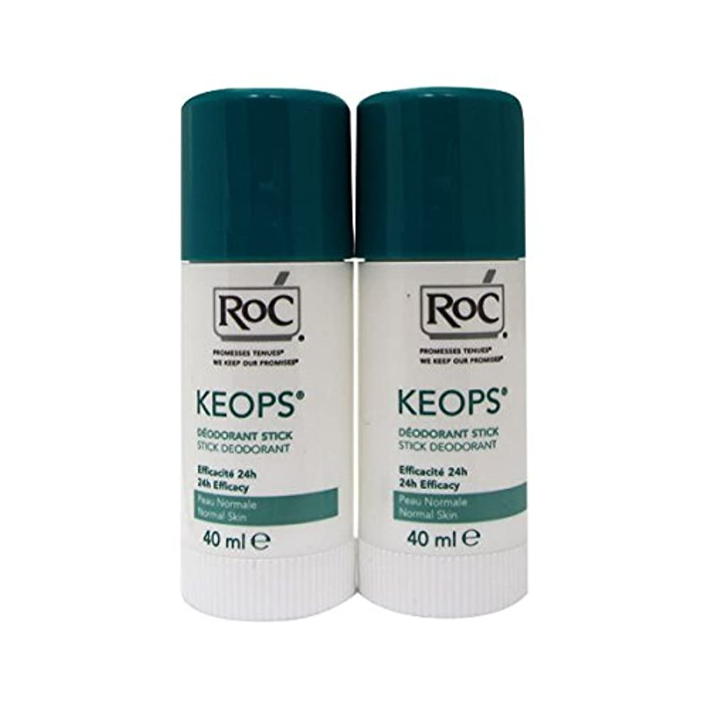 マニアック石鹸緊張Roc Keops Deodorant Stick Soft Sweating 2x40ml [並行輸入品]