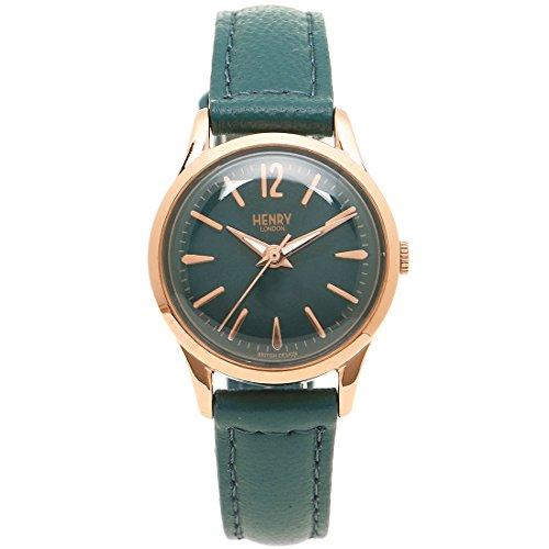 [ヘンリーロンドン] 腕時計 レディース HENRY LONDON HL25S0128 グリーン ピンクゴールド [並行輸入品]
