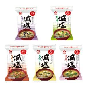 アマノフーズ フリーズドライ 減塩 味噌汁 5種類30食セット (塩分が気になる方に)