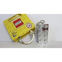 【グッズ-レゴショップ?クリックブリック限定】 851406 レゴ クラシック 銀色(シルバー)ブロック キーチェーン(キーリング) 2016年版 / LEGO CLASSIC Silver 2 x 4 Stud Key Chain(Keyring?Bag Charm)[ヘッダー付パッケージ]