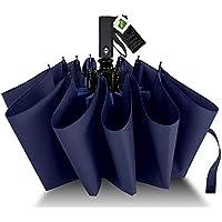 Agedate 折りたたみ傘 自動開閉 頑丈な12本骨 大きい メンズ傘 Teflon加工 超撥水 210T高強度グラスファイバー 耐強風 傘ケース付き