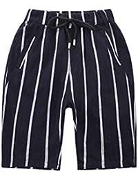 Cozy Maker(C&M)パンツ キッズ 男の子 通学 通園 運動 ゴムウェスト ショートパンツ ズボン ベビー 子供 通気性 動きやすい 涼しい 可愛い 薄手 ボーイズ ボーター ポケット付き