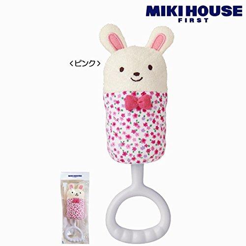 [ミキハウス] MIKIHOUSE くまちゃん*うさちゃんのラトル 46-1222-672 ピンク