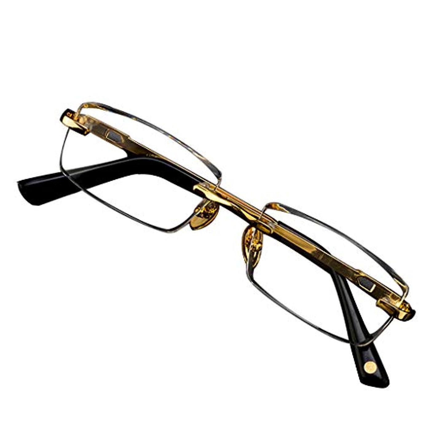 明るく便利なデザインのはっきりとした視界を持つ、メンズダイヤモンドトリミング用の老眼鏡長方形フレームレス読書疲労フィルター