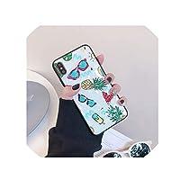 キラキラサマーケースfor iPhone X 3Dダイヤモンドケースfor iPhone 6 6S 7 8 Plus Xr Xs Maxカバーフルーツアート新鮮な光沢のあるケース、1、iPhone 7,2,ForiphoneXR