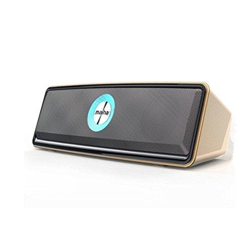 ブルートゥーススピーカー EIVOTOR ポータブル ダブルスピーカー ワイヤレススピーカー 9時間連続再生 小型 パソコン 搭載 AUX 入力 ハンズフリー 通話 高音質 重低音 ミニ TFカード サポート
