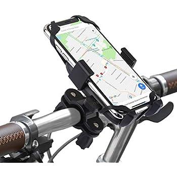 266f35c989 自転車用スマホホルダー、汎用型自転車ハンドルスマホホルダー、スマホ本体を押すだけでしっかり固定可能、スマホ、GPSと他のデバイスに対応