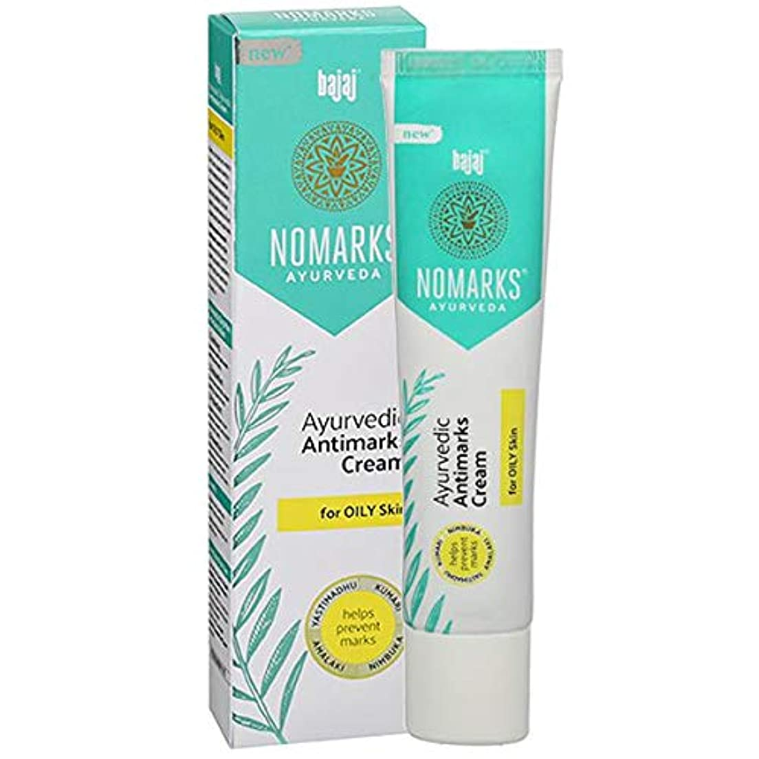デコレーション共和党ウェーハBajaj Nomarks For oily Skin For Pimple - Mark Free Glowing Fairness with Emblica Aloe & Lemonエンブリカアロエ&レモンマーク無料...
