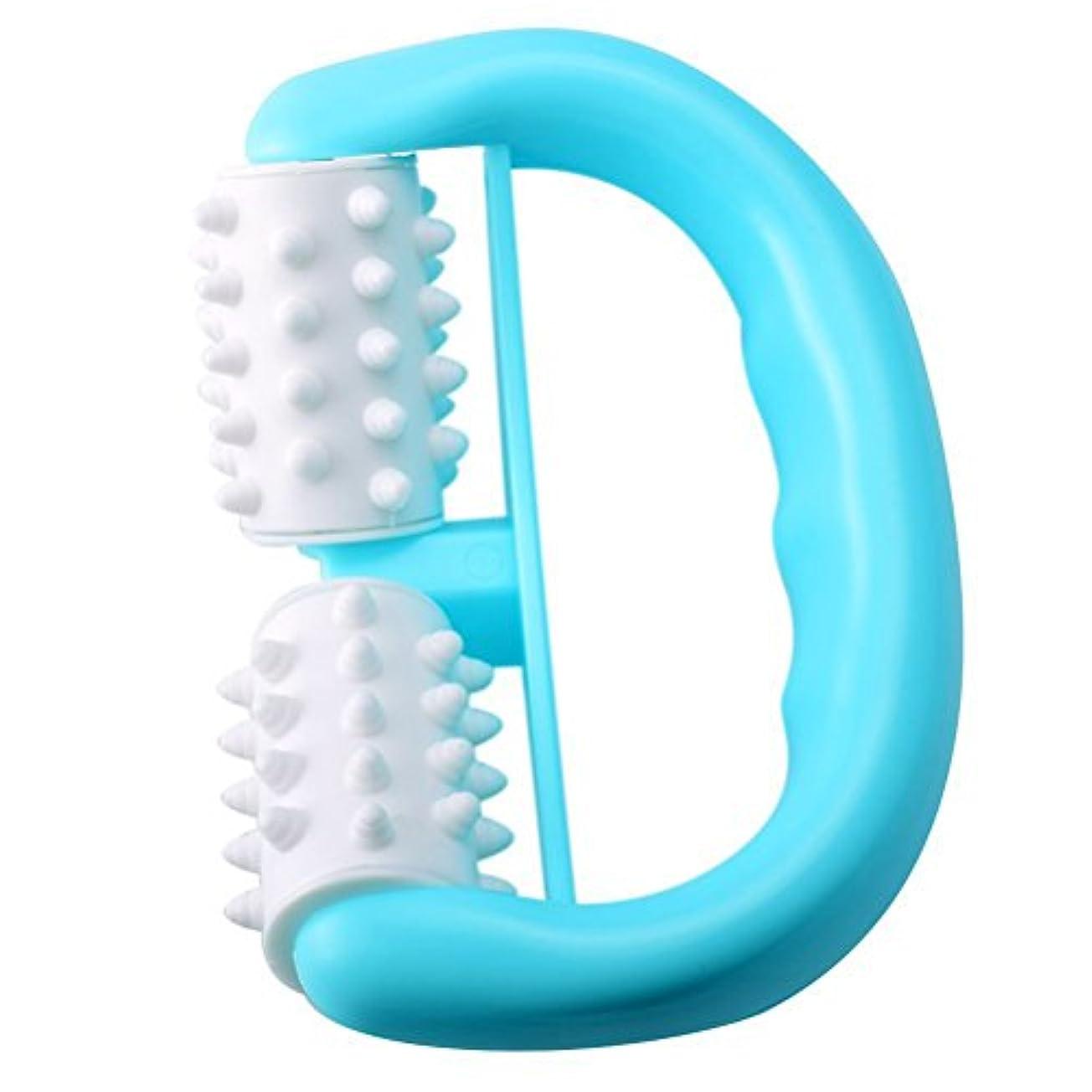 欺く運搬発表するROSENICE セルライトマッサージャー深部組織筋筋肉解放ツールボディセラピーマッサージファットブラスター(青)