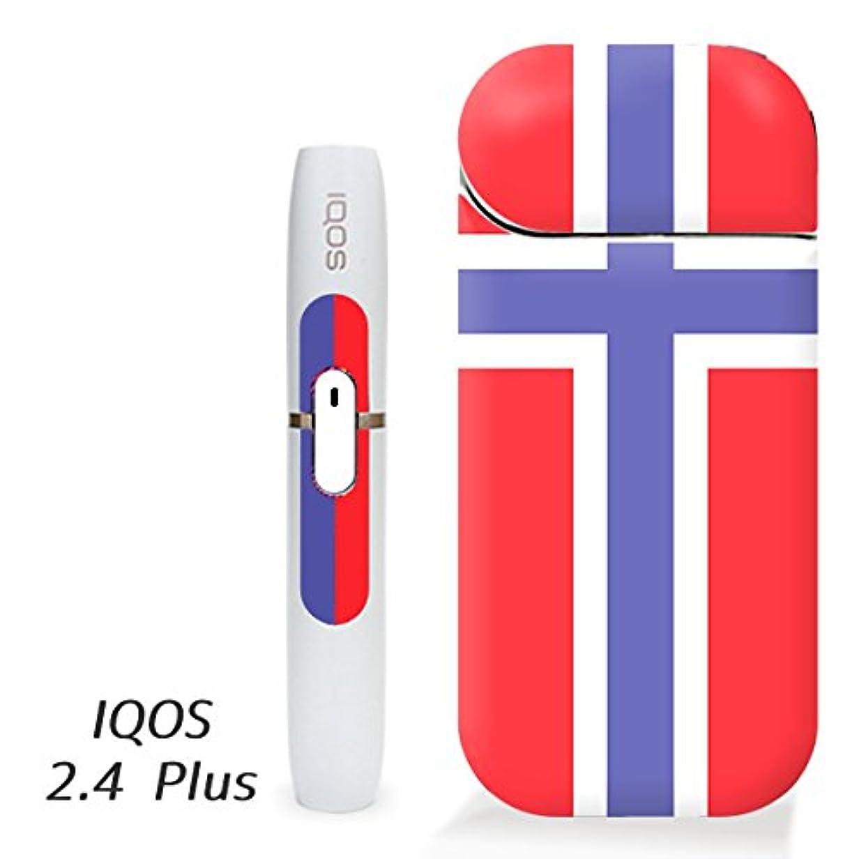廃棄の面ではリサイクルするアイコス スキンシール ( 2.4Plus 用 ) ノルウェー 国旗 シール ステッカー iQOS (ノーマルタイプ)