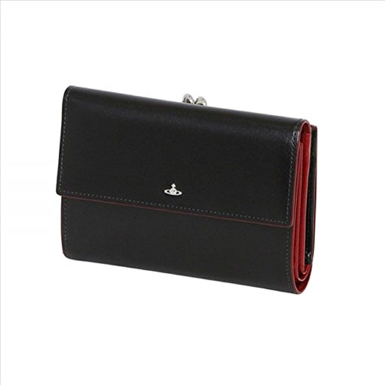ヴィヴィアンウエストウッド Vivienne Westwood 財布 SIMPLE TINY ORB 二つ折り財布 がま口 (ブラック)