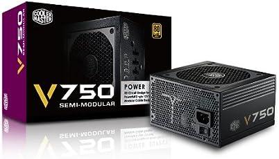 CoolerMaster 80PLUS GOLD認証 750W電源ユニット V750 Semi-Modular (型番:RS750-AMAAG1)