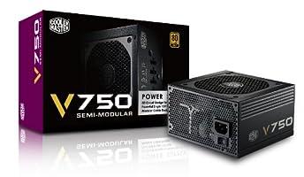 CoolerMaster 80PLUS GOLD認証 750W電源ユニット V750 Semi-Modular (型番:RS750-AMAAG1-JP)