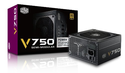 CoolerMaster 80PLUS GOLD認証 750W電源ユニット V750 Semi-Modular (型番:RS750-AMAAG1)