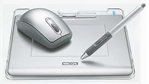 WACOM FAVO ペン&マウス・タブレット A6サイズ CTE-440/S0 シルバー (ソフト5種類付属)