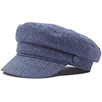 2020 Womens Hats Caps Spring Autumn 2019 Beret Cap Cotton Linen Navy Hat Women Stereo Wild Street Fashion Casual Soft Decoration Lighting New Adjustable Octagonal Beret