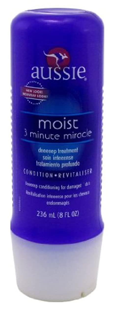 バケット無視するシンプルさAussie Deeeeep 3 Minute Miracle Moisture Treatment 8 oz. (Case of 6) (並行輸入品)