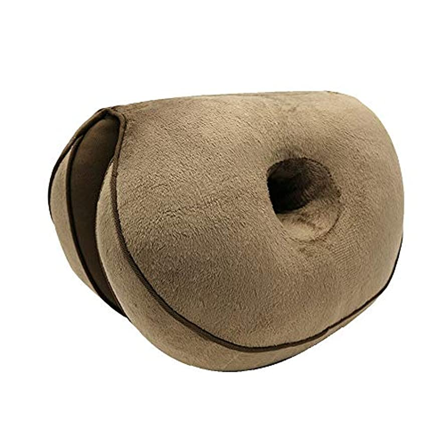 不合格歯うるさいLIFE 新デュアルシートクッション低反発ラテックスオフィスチェアバックシートクッション快適な臀部マットパッド枕旅行枕女性女の子 クッション 椅子