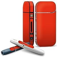 IQOS 専用 COMPLETE アイコス 専用スキンシール 全面セット サイド ボタン スマコレ チャージャー カバー ケース デコ 赤 単色 シンプル 012230
