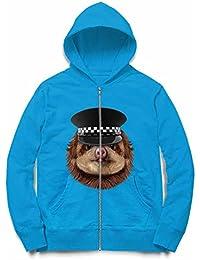 Fox Republic ナマケモノ の赤ちゃん 警察官 レディース パーカー ジッパー スウェット トレーナー