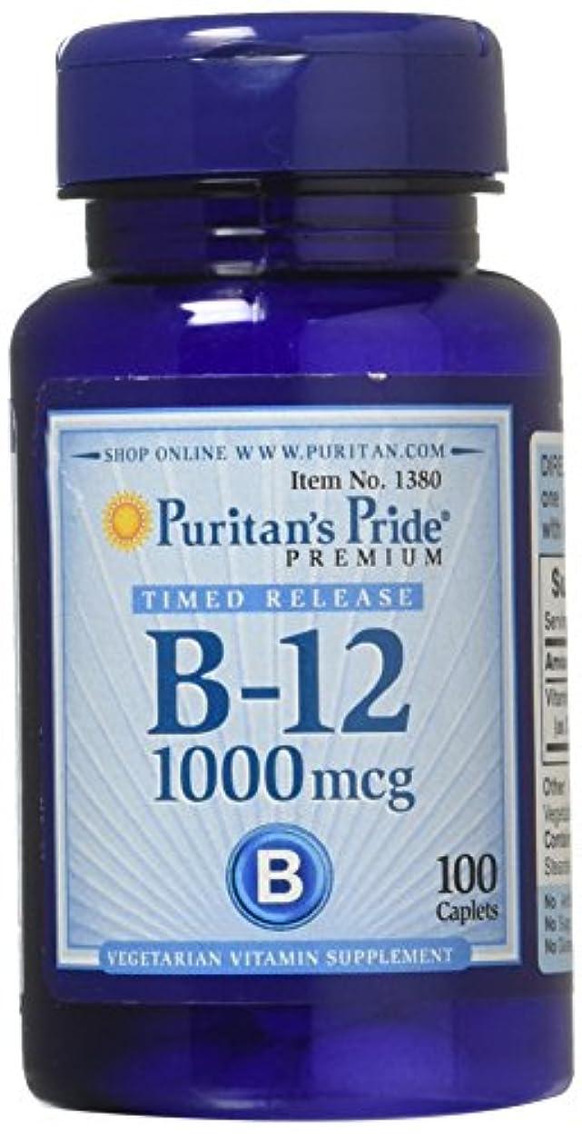 表面操る電気のピューリタンズプライド(Puritan's Pride) ビタミンB-12 ENER-B R 1000 mcg.カプレット