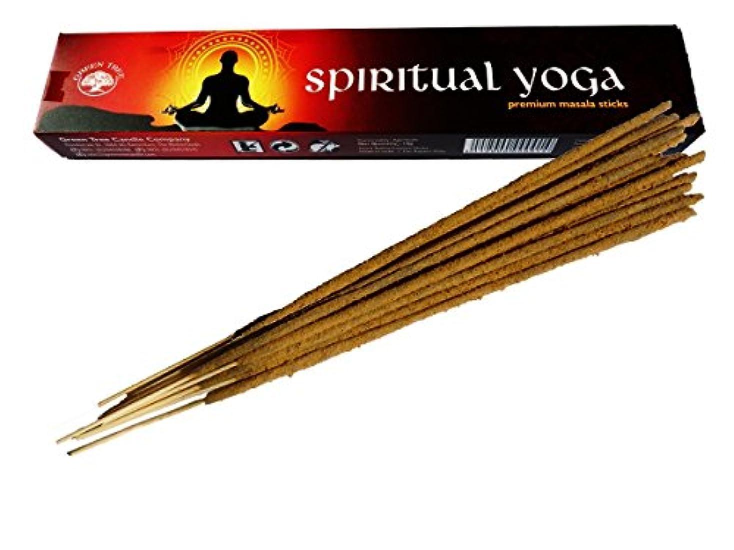 結果麻痺させるサミュエルグリーンツリーSpiritualヨガ自然Incense Sticks
