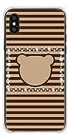 Apple iPhone X ハードケース VA849 ベアーフェイス 素材クリア UV印刷
