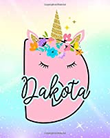 Dakota: Girls Unicorn Journal to Write In | Personalized Journal