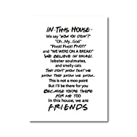 友人引用テレビポスター友人テレビショーこの家で印刷面白い引用寝室ポスターキャンバス絵画60×80センチなしフレーム