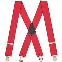 Suspender Store Mens Classic 2-Inch Wide Pin Clip Suspenders