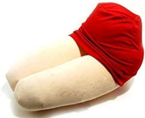 寝心地がいい枕 高品質 ひざまくらクッション 女性の太ももを忠実に再現 !!! 赤ミニスカート